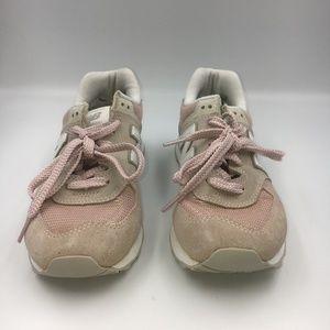 New Balance Women's Shoe WL574 Suede Mesh Trainers